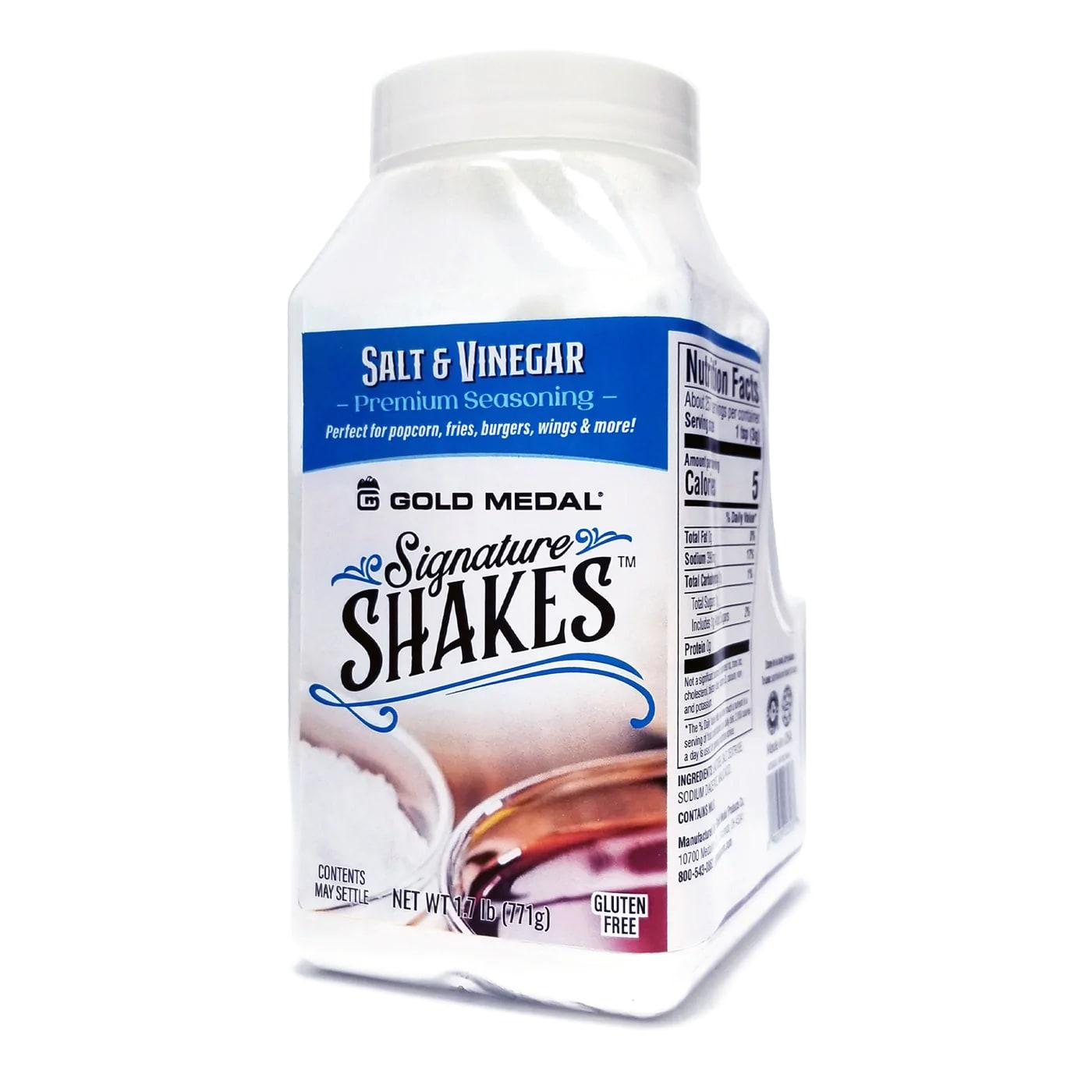 Gold Medal 2353S Shake-On Salt & Vinegar Flavor w/ (4) 18-oz Jars