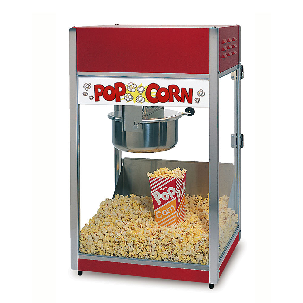Gold Medal 2388 Special 88 Popcorn Machine w/ 8 oz Kettle & Red Steel Dome, 120v
