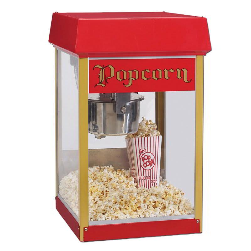Gold Medal 2404 120208 FunPop Popcorn Machine w/ 4-oz EZ Kleen Kettle & Red Dome, 120/208V