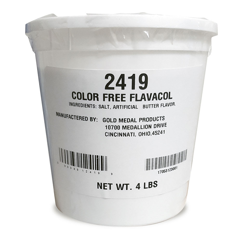 Gold Medal 2419 4 lb Color Free Flavacol
