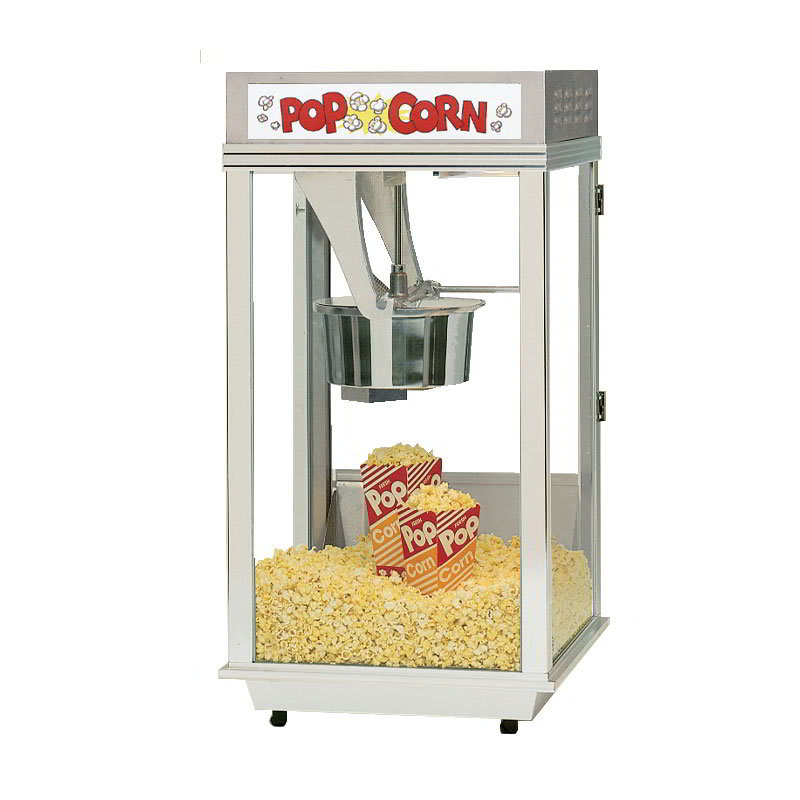 Gold Medal 2452 Ultimate Bronco Popcorn Machine w/ 8-oz EZ Kleen Kettle & Stainless Dome, 120v
