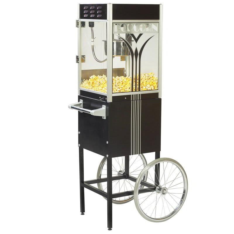 Gold Medal 2454 120240 Retro Popcorn Machine w/ 4-oz EZ Kleen Kettle & Black Dome, 120/240V