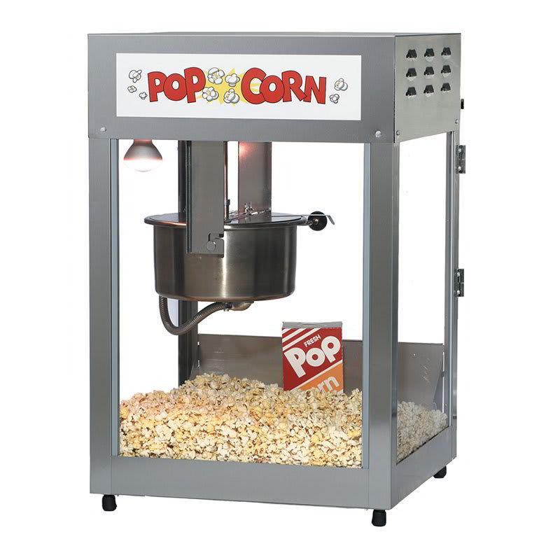 Gold Medal 2552 120208 Pop Maxx Popcorn Popper - 14-oz EZ Kleen Kettle & Stainless Dome, 120v