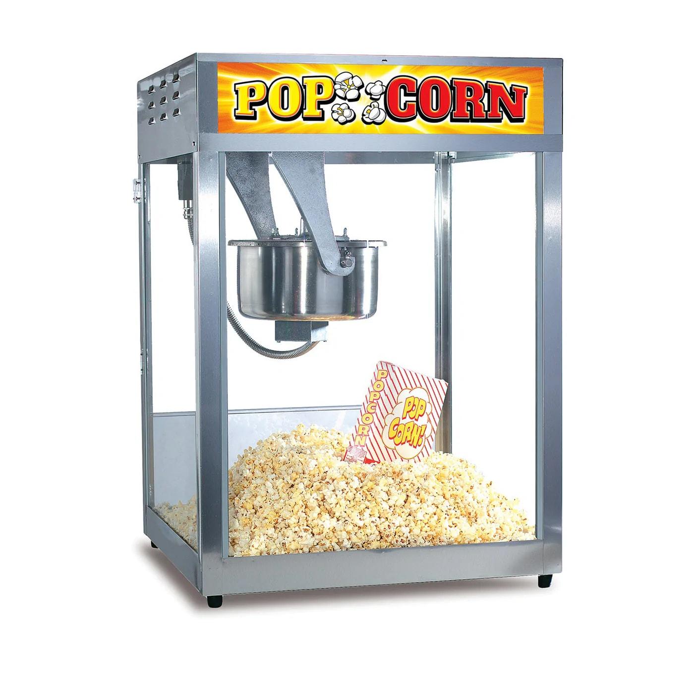Gold Medal 2553 Popcorn Machine, 16/18-oz EZ Kleen Kettle, Oil Pre-Wired, 120v
