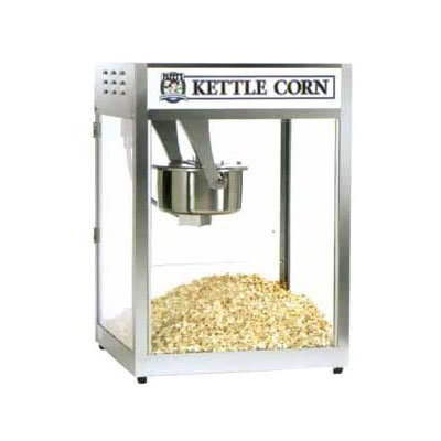 Gold Medal 2553BC Popcorn Machine, 16-oz EZ Kleen Kettle, Stainless Cabinet, 120v