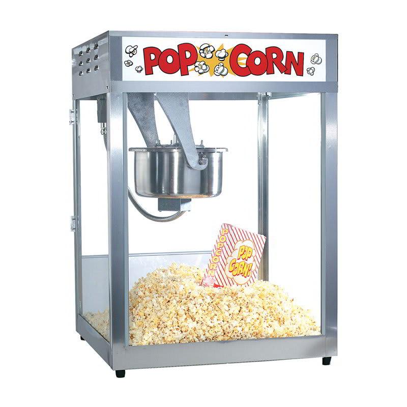 Gold Medal 2554 120208 Front Counter Popcorn Machine, 16/18-oz EZ Kleen Kettle, 120/208 V
