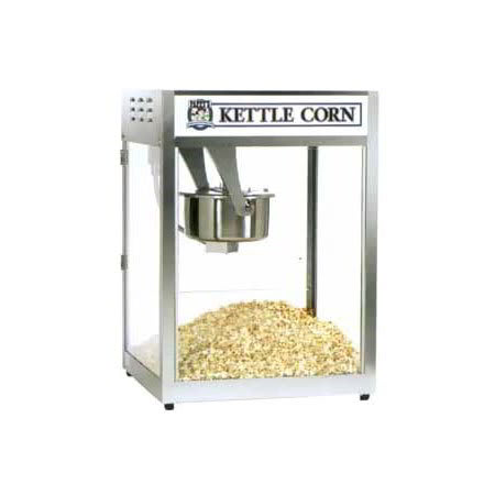 Gold Medal 2554BC Back Counter Popcorn Machine, 16/18-oz EZ Kleen Kettle, 120/208 V