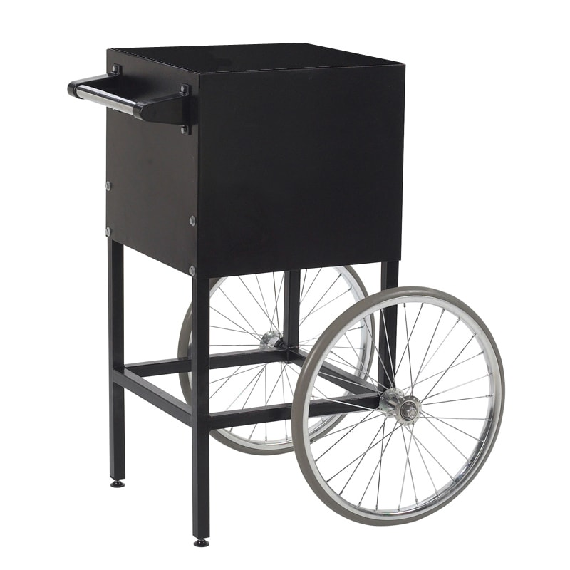 Gold Medal 2649MD Fun Pop Cart for 4-oz Popper w/ Storage Compartment & 2-Spoke Wheels, Midnight Black