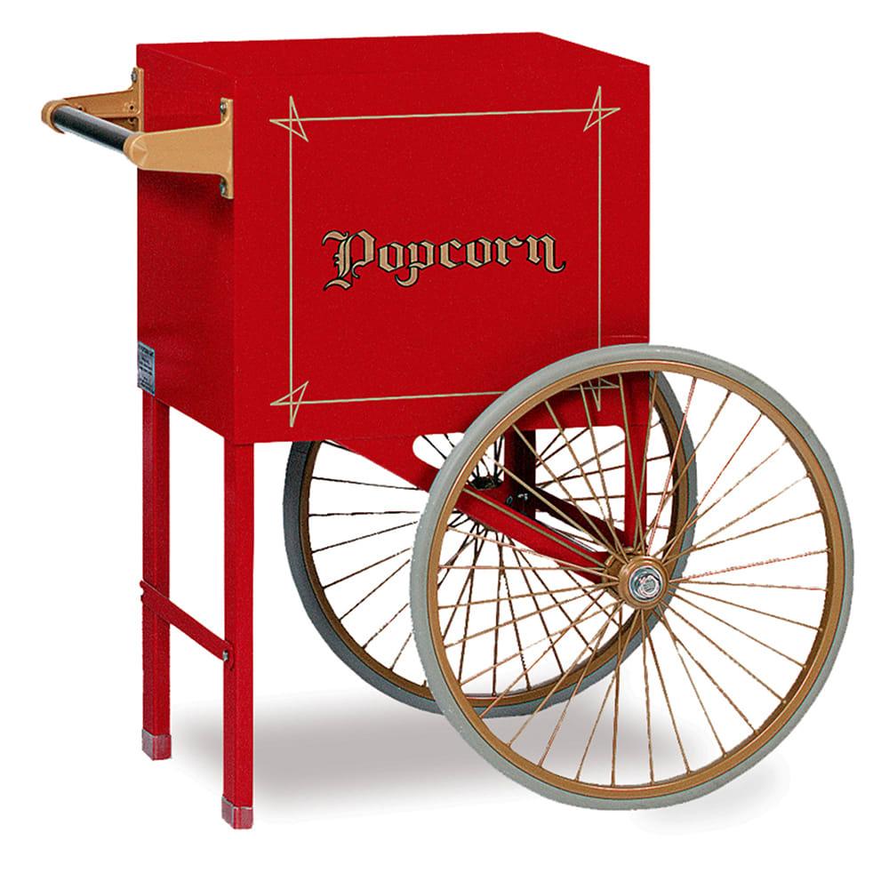 Gold Medal 2659CW Popcorn Cart w/ 2 Spoke Wheels, White