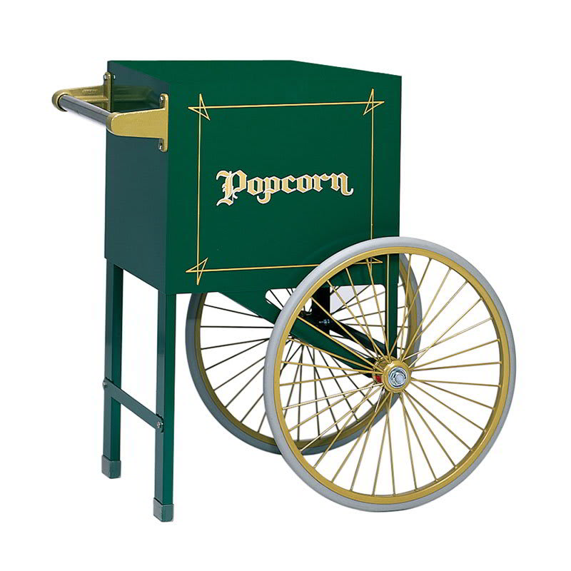 Gold Medal 2659HG Popcorn Cart w/ 2 Spoke Wheels, Hunter Green