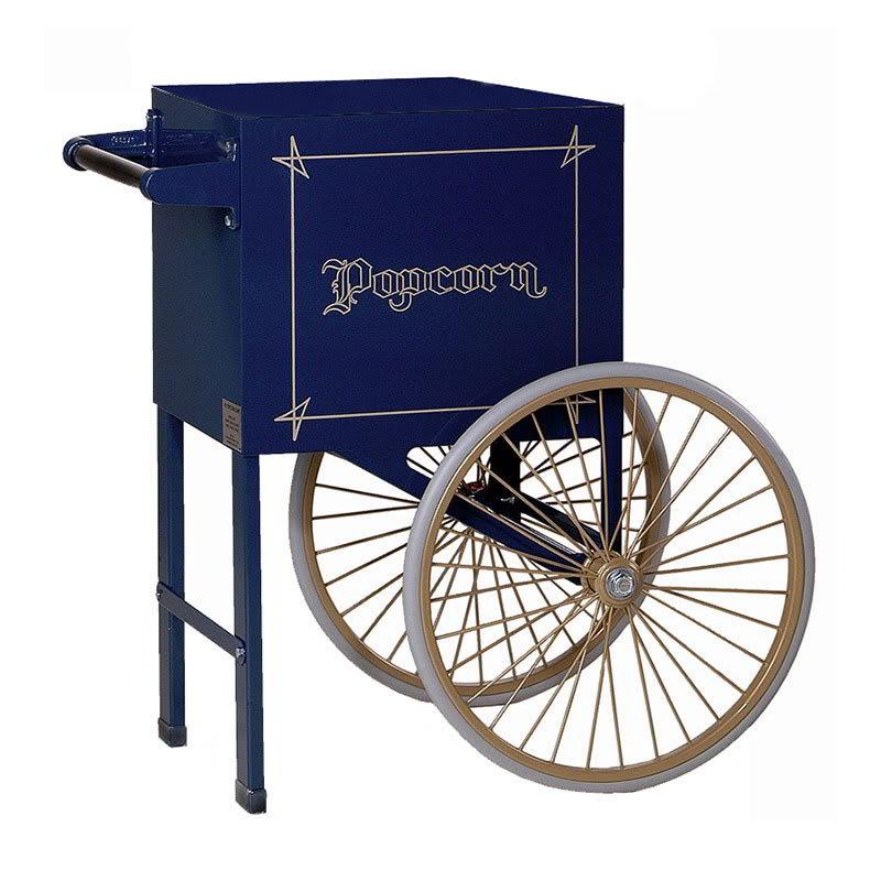 Gold Medal 2659NB Popcorn Cart w/ 2-Spoke Wheels, Navy Blue