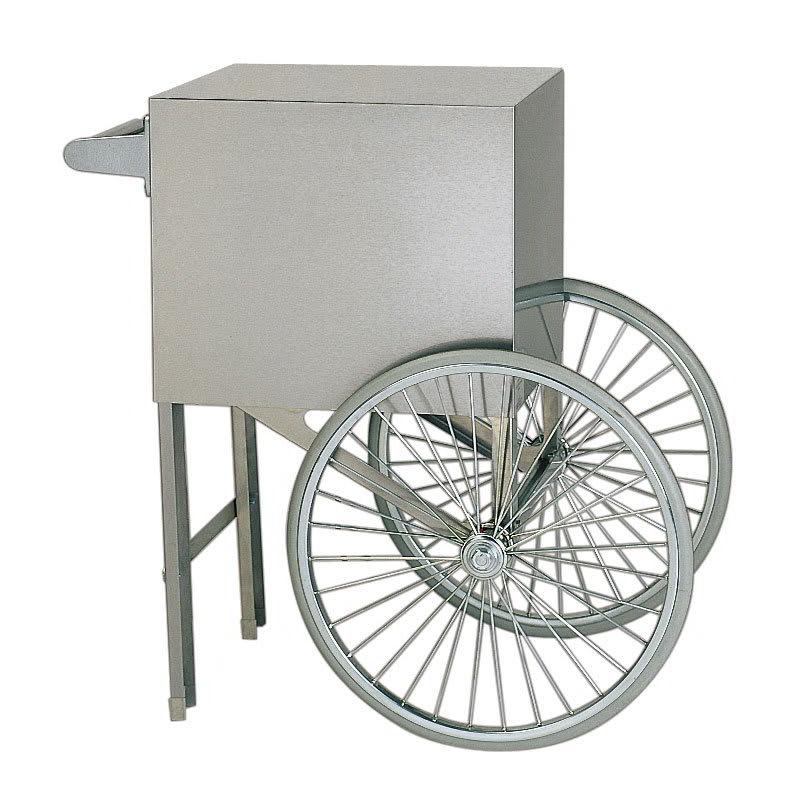 Gold Medal 2659ST Popcorn Cart w/ 2 Spoke Wheels, Stainless