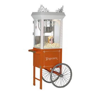 Gold Medal 2660GTO 120208 Popcorn Machine, 6-oz EZ Kleen Kettle, Antique Orange Dome, 120/208