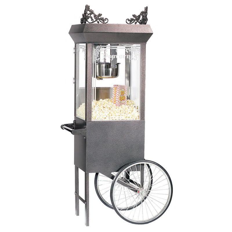 Gold Medal 2660GTSV 120208 Antique Deluxe Popcorn Machine w/ 6-oz Kettle & Silver Vein Dome, 120/208V