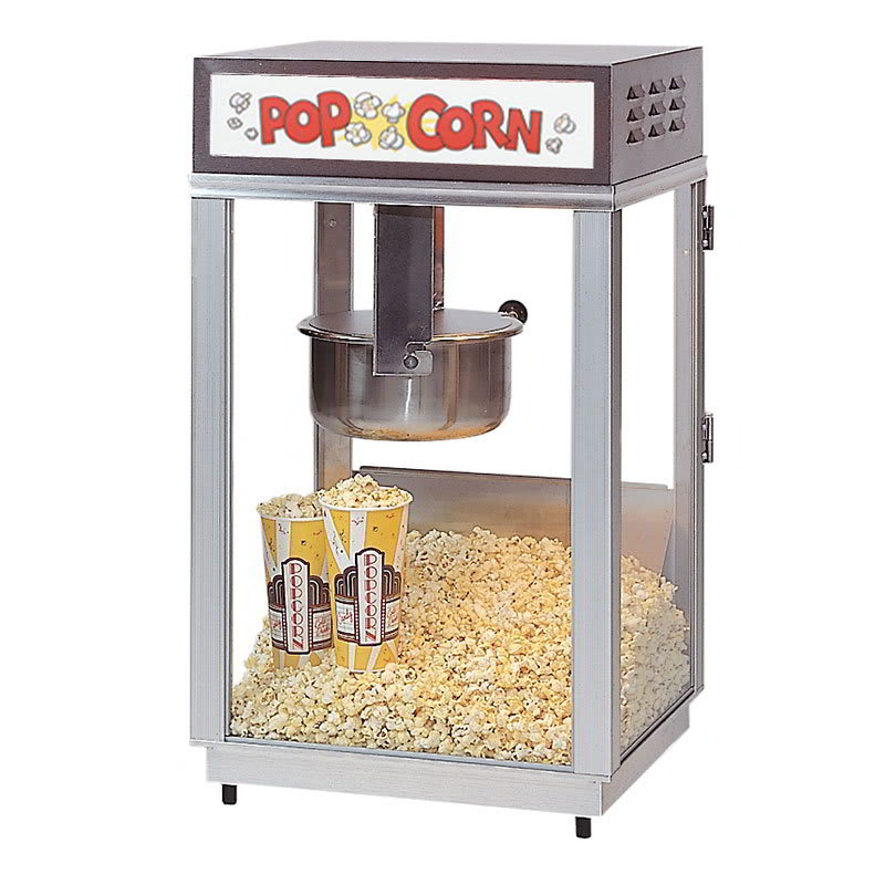 Gold Medal 2661 Ultimate-60 Special Popcorn Machine w/ 6-oz Popper & Stainless Dome, 120v