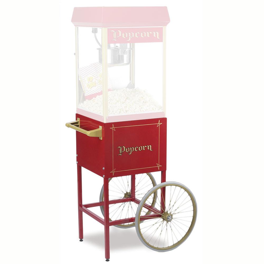 Gold Medal 2689CR Fun Pop Cart for 8 oz Popper Machine w/ Rear Access Door, Red