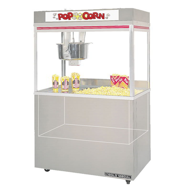 Gold Medal 2848ED 120208 Popcorn Machine w/ 32-oz Kettle & Reversible Dome, 120/208 V