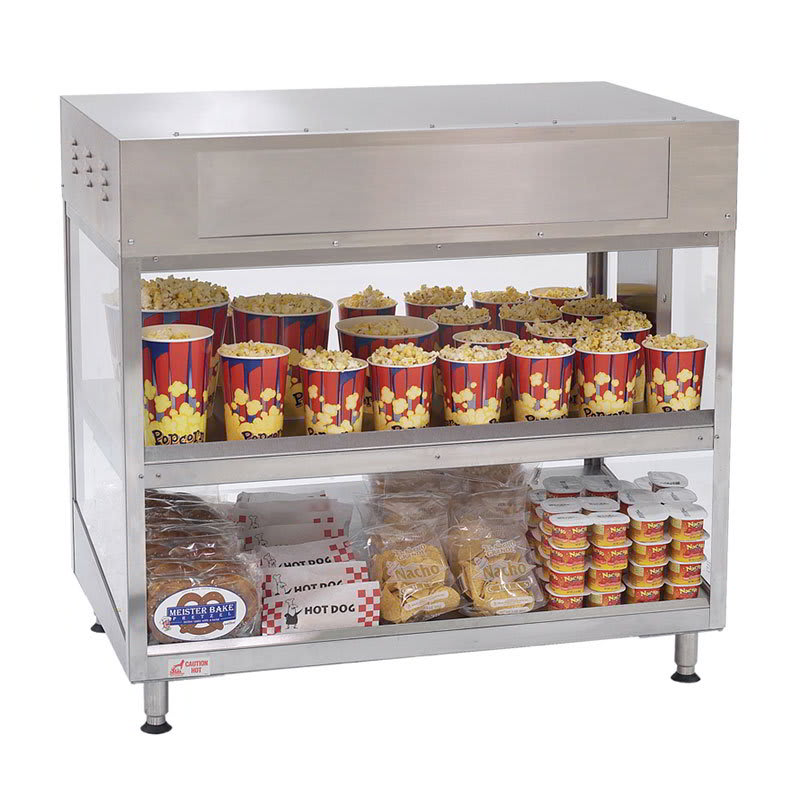 "Gold Medal 2856-00-000 36"" Popcorn Staging Cabinet w/ (2) Shelves, 120v"