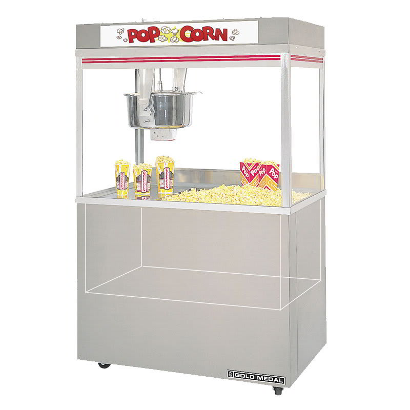 Gold Medal 2860ED 120240 Grand Pop O Gold Popcorn Machine, 32 oz Kettle, 120/240 V
