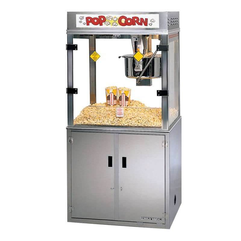 Gold Medal 2911EB 120208 Medallion Popcorn Machine w/ 52-oz Kettle & 3-Way Filter System, 120/208v