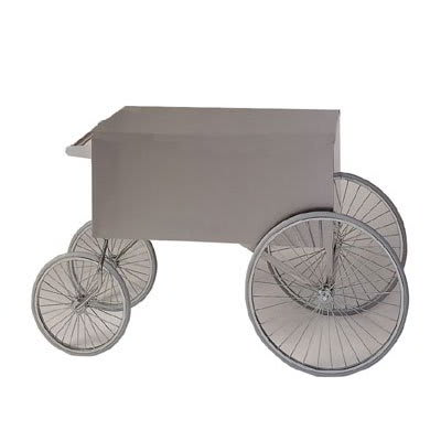 "Gold Medal 2936ST Food Cart for Shaved Ice w/ Cover & Graphics, 57""L x 26""W x 33""H, Stainless"
