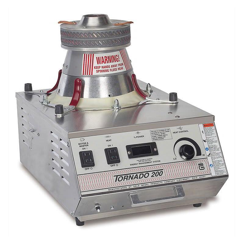 Gold Medal 3005EMS 208 Tornado 200 Cotton Candy Machine w/ Lock N Go System, 208/1V