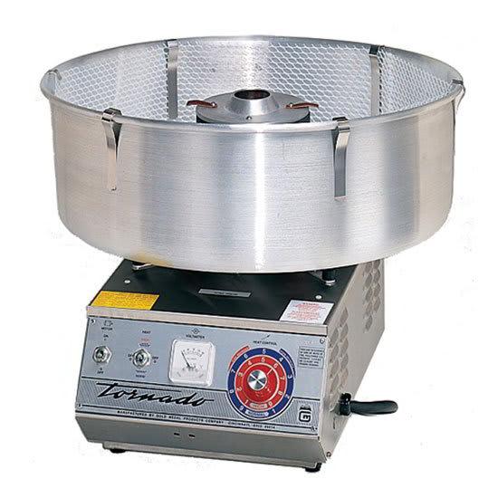 Gold Medal 3005SS Tornado Floss Cotton Candy Machine w/ Aluminum Floss Bowl, 120v