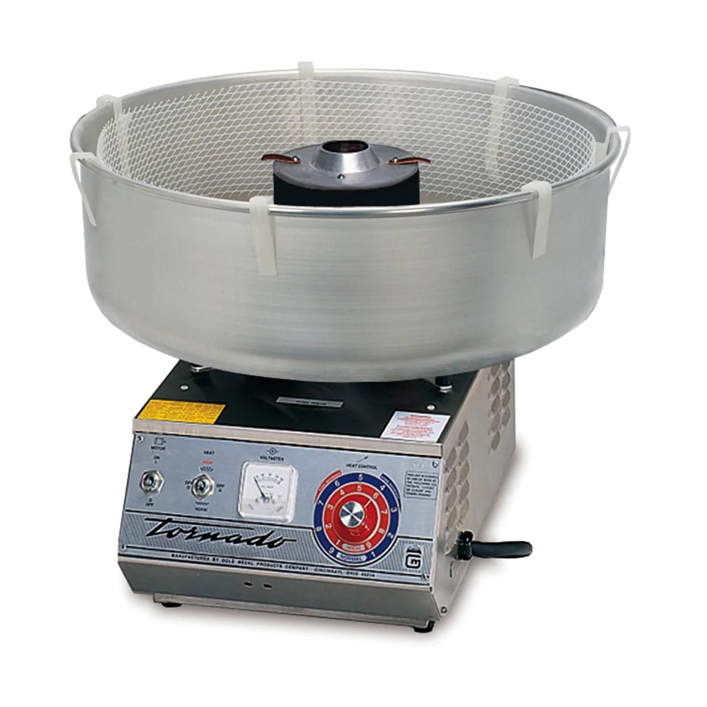 Gold Medal 3007 High Output Tornado Floss Cotton Candy Machine w/ Aluminum Floss Bowl, 120v