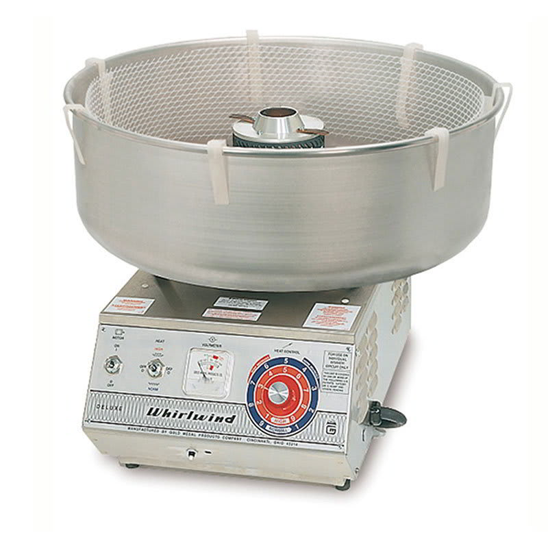 Gold Medal 3008SS Deluxe Whirlwind Cotton Candy Machine w/ Aluminum Floss Bowl, 120v