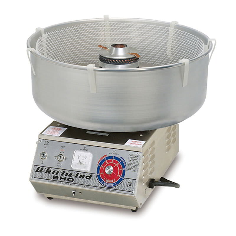 Gold Medal 3009 High Output Deluxe Whirlwind Cotton Candy Machine w/ Aluminum Floss Bowl. 120v
