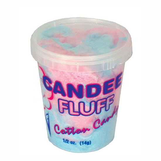 Gold Medal 3020N 0.5 oz Disposable Candee Fluff Containers w/ Open One Time Only Lids, 400/Case