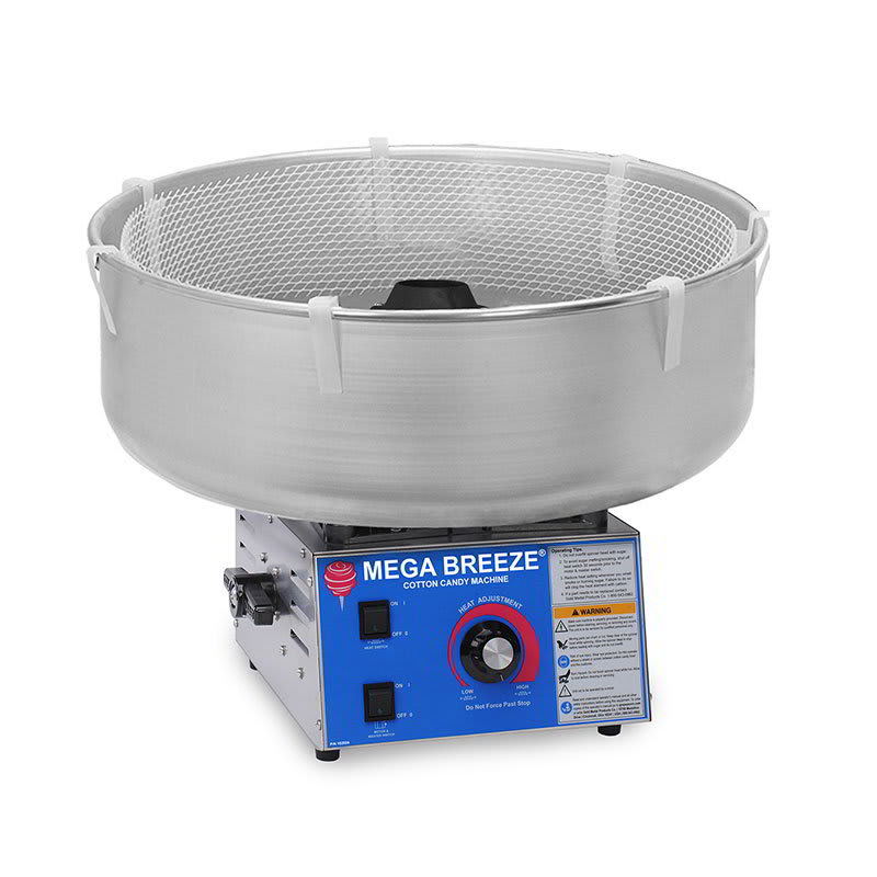 "Gold Medal 3042-00-000 Mega Breeze Cotton Candy Machine w/ 7"" Round Head & Aluminum Floss Pan"