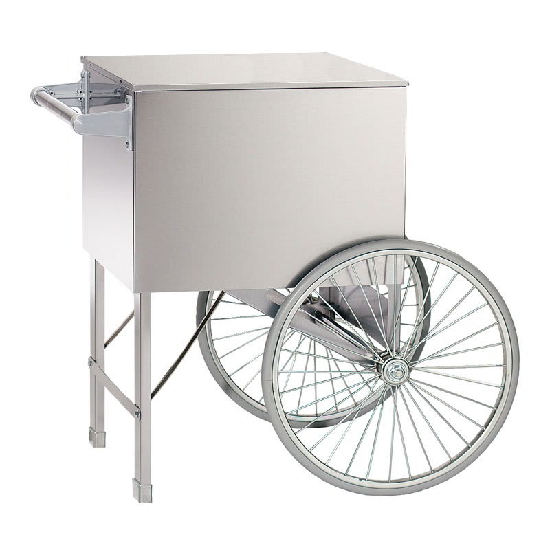 "Gold Medal 3118 Food Cart for Cotton Candy w/ Graphics, 82.4""L x 34""W x 62""H, Pink"