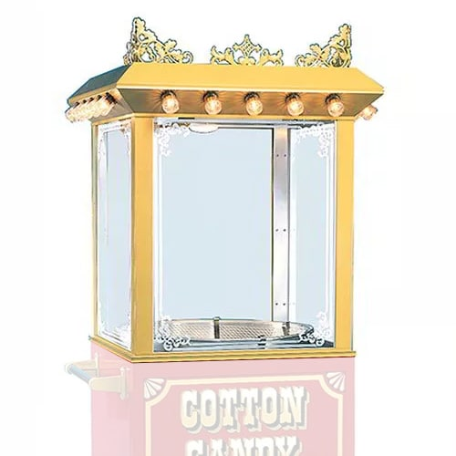 Gold Medal 3119 Antique Unifloss Top Cotton Candy Machine Frame w/ Etched Glass
