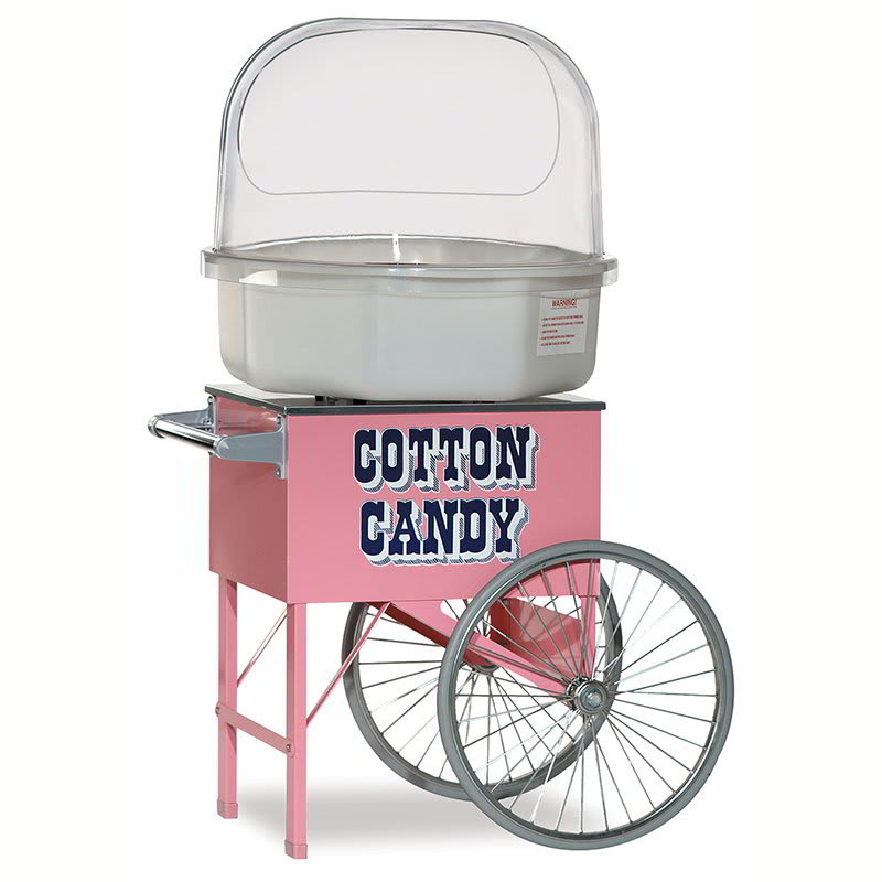 "Gold Medal 3149 Food Cart for Cotton Candy w/ Graphics, 20""L x 20""W x 38""H, Pink"