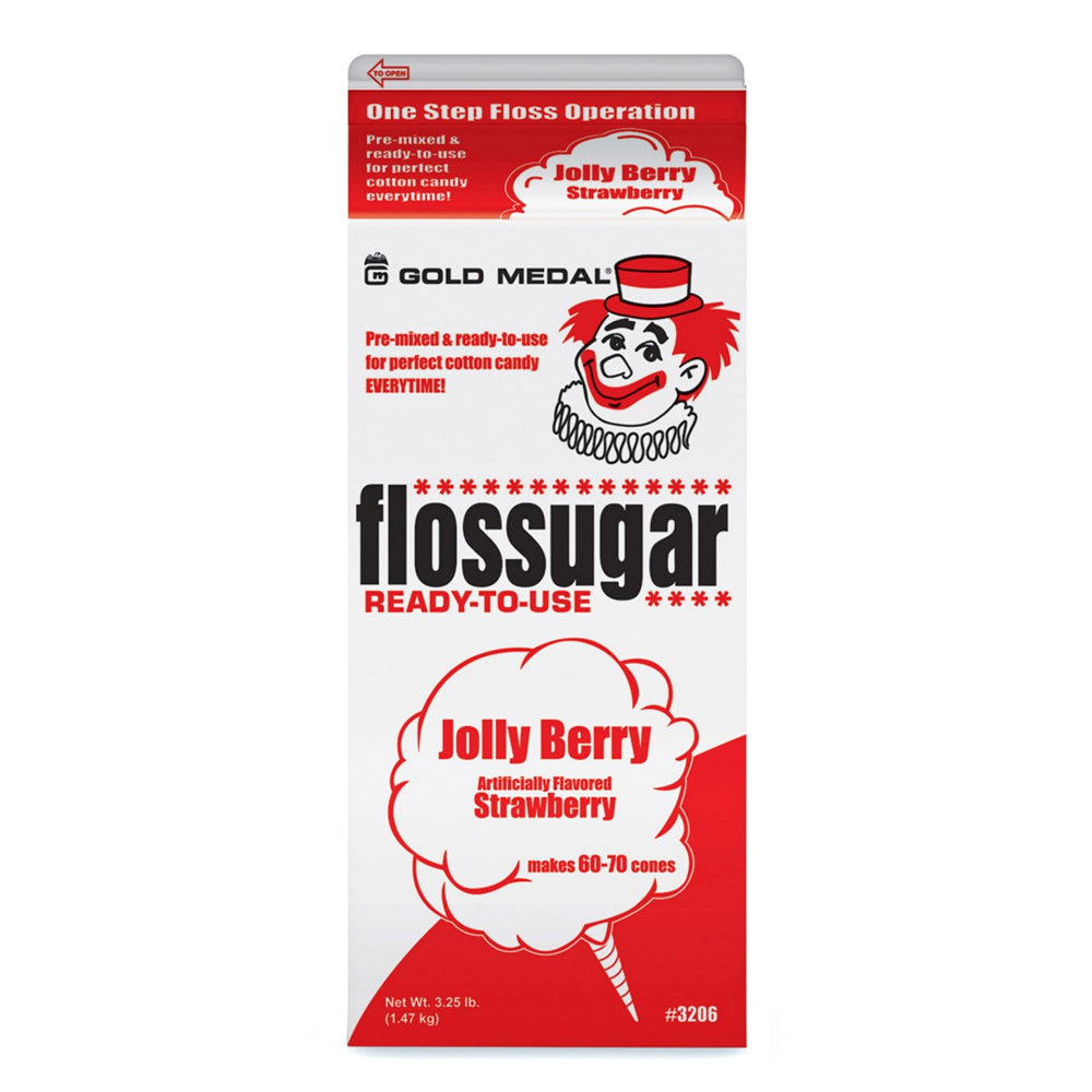 Gold Medal 3206 .5 gal Jolly Berry (Strawberry) Cotton Candy Flossugar