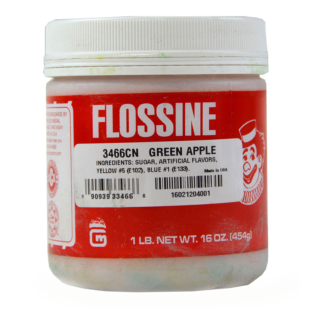 Gold Medal 3466 Sassy Apple Flossine, (12) 1-lb Plastic Containers/Case