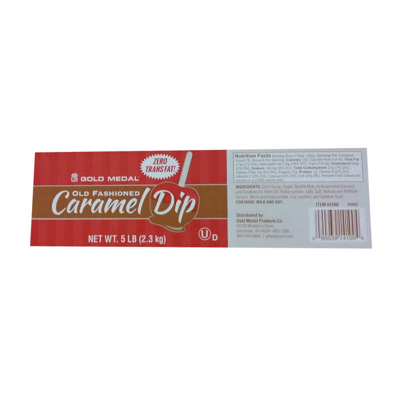 Gold Medal 4100 5-lb 0g Trans Fat Old Fashioned Caramel Apple Dip