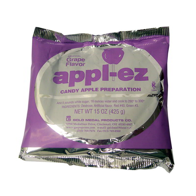 Gold Medal 4142 15-oz Appl-Ez Candy Apple Mix, Grape