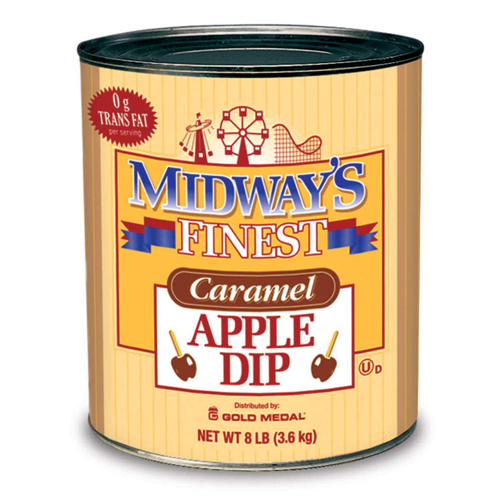 Gold Medal 4224 Trans-Fat Free Caramel Apple Dip Coats 180 240 Apples