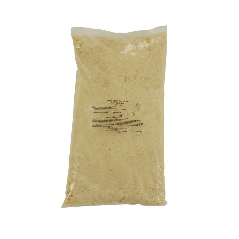 Gold Medal 5017 (6) 5 lb Bags One-Step Belgian Waffle Mix