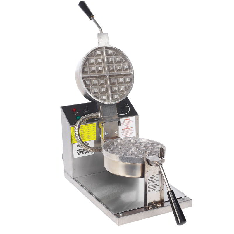 """Gold Medal 5021 Belgian Waffle Baker w/ 7.25"""" Fixed Grid, Stainless"""