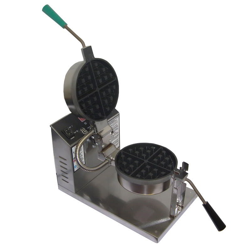 "Gold Medal 5021ET Belgian Waffle Baker w/ 7.25"" Non-Stick Grid & Electronic Controls"