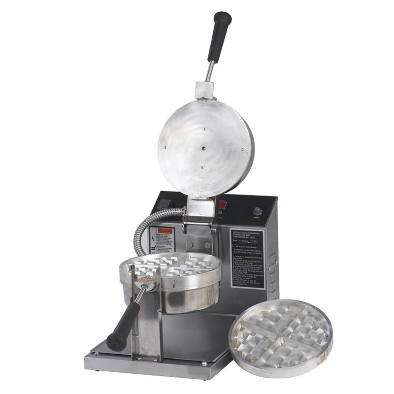 Gold Medal 5042E Single Classic Belgian Waffle Maker w/ Removable Stainless Steel Grids, 1330W