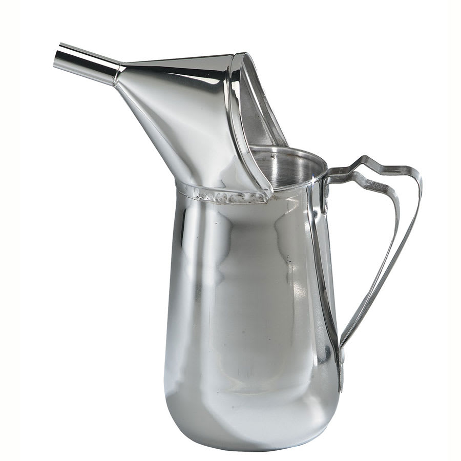 Gold Medal 5109 1.5 qt Funnel Cake Pouring Pitcher w/ Open-Up Spout, Non-Metallic Funnel