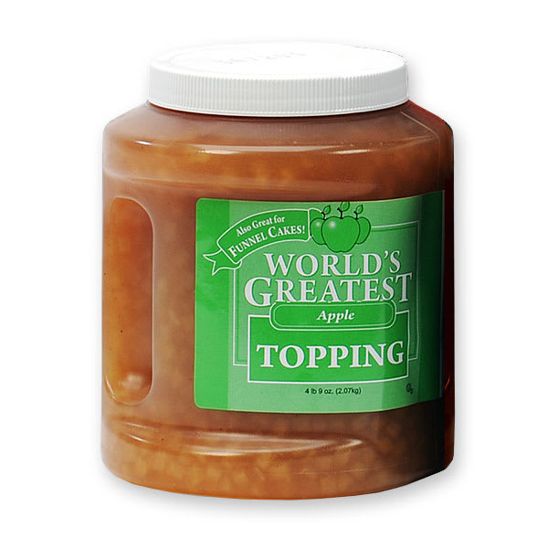 Gold Medal 5137 Ice Cream Topping w/ (3) 66 oz Jars, Apple