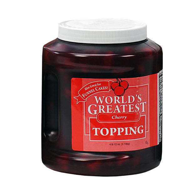 Gold Medal 5138 Ice Cream Topping w/ (3) 66-oz Jars, Cherry