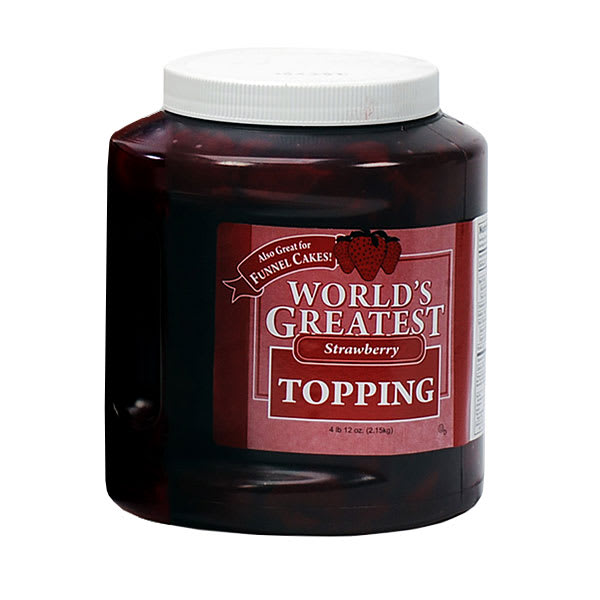 Gold Medal 5140 Ice Cream Topping w/ (3) 66-oz Jars, Strawberry