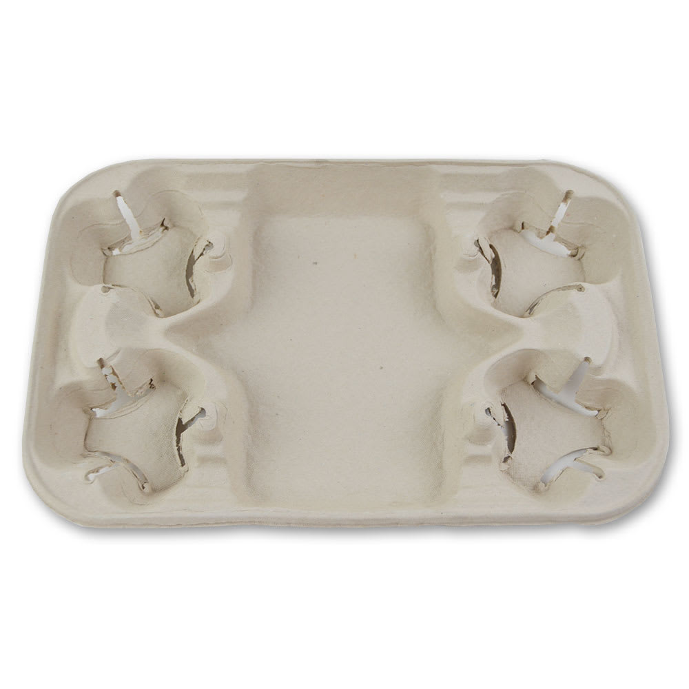 Gold Medal 5201 Disposable Keyes Molded Carry-Out Trays, 250/Case