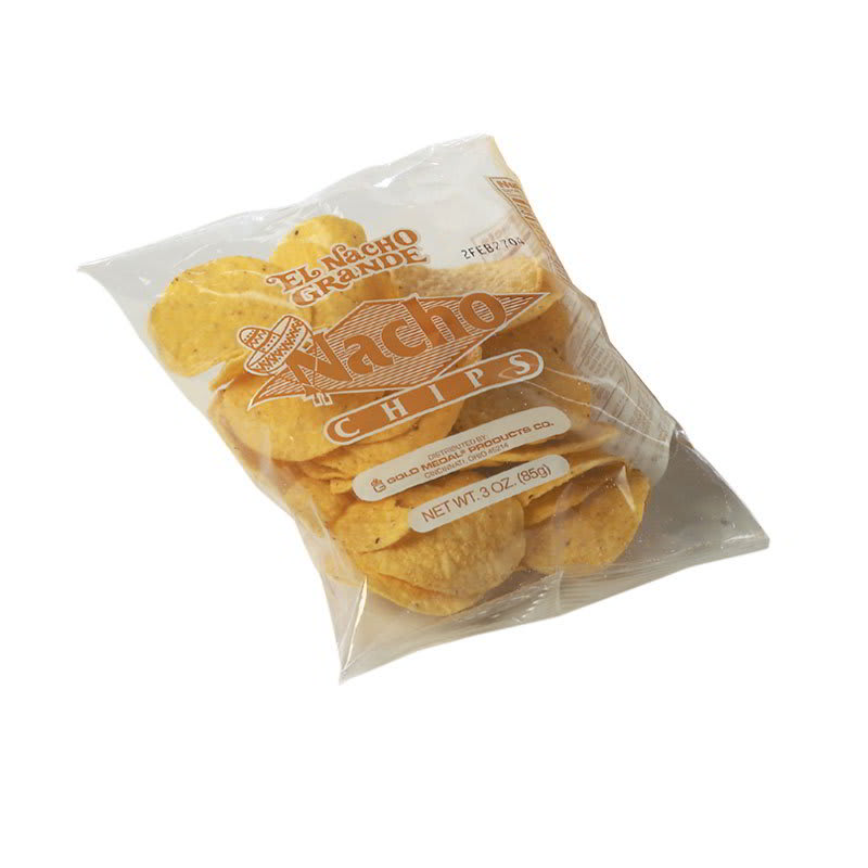Gold Medal 5256 Round Nacho Chips w/ (4) 24-oz Bags